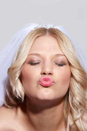 Hochzeitsspiel: Kussmund raten