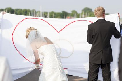 Hochzeitsspiel Bettlaken Herz